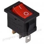 KCD1-2-101N  R/B  1 клав.  с подсветкой (красный)