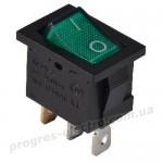 KCD1-2-101N  GR/B 1 клав.  с подсветкой (зеленый)