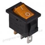 KCD1-2-101N YL/B 1 клав.  с подсветкой  (желтый)