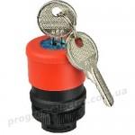 Аварийная кнопка с ключом XB2-ES74 (толкатель, без контактного блока) d30mm