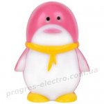 Светильник ночник Feron FN1001 пингвин розовый