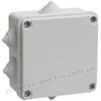Коробка распределительная КМ41233 для о/п 100х100х50мм IP44 (RAL7035, 6 гермовводов) IEK