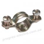 Скоба металлическая двухкомпонентная d10-11мм IEK