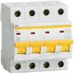 Автоматический выключатель ВА47-29 4Р 20А 4,5кА В IEK