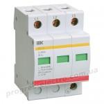 Ограничитель импульсных перенапряжений ОПС1-C 3P 20/40кА 400B IEK