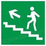 """Самоклеящаяся этикетка 150х150мм """"Направление к эвакуационному выходу (по лестнице налево вверх)"""" IEK"""