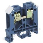 Зажим наборной на Din-рейку ЗНИ-10мм2 (JXB70А) синий IEK